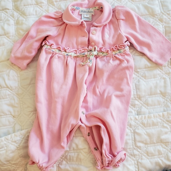 Ralph Lauren Other - Ralph Lauren baby girl one piece pink